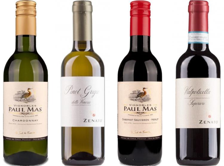 wijnproeverij online wijnpakket 4 kleine flessen